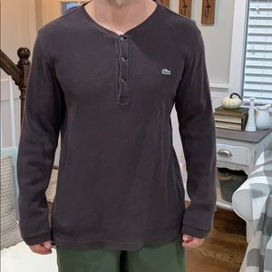 Mens Brown Lacoste Thermal long sleeve Size 5 (L)